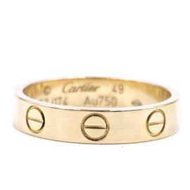 Cartier-Cartier Or Rose 18K 750 Taille de bande d'amour 49-Doré