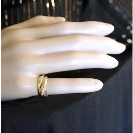 Cartier-Cartier Tricolor 18k Trinity Ring Size 52-Multiple colors