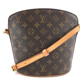 Louis Vuitton-Louis Vuitton Drouot Monogram Canvas-Brown