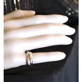 Cartier-Cartier Tricolor 18k Trinity Ring Size 53-Multiple colors