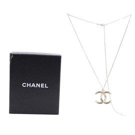 Chanel-Sautoir en plumes de perles CC en or Chanel-Doré