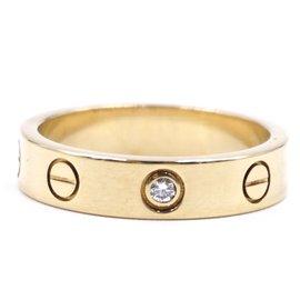 Cartier-cartier 18K 750 1P Diamond Love Ring Size 49-Golden