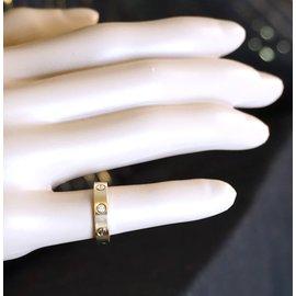 Cartier-cartier 18K 750 1Taille de bague P Diamond Love 49-Doré
