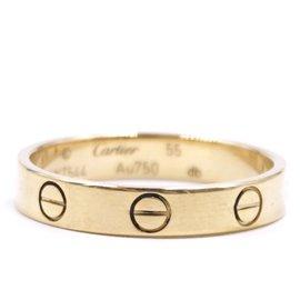 Cartier-Cartier Rose Gold 18K 750 Love Band Size 55-Golden