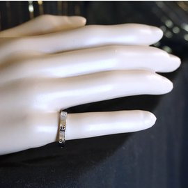 Cartier-Cartier White Gold 18K 750 Love Band Size 56-Silvery