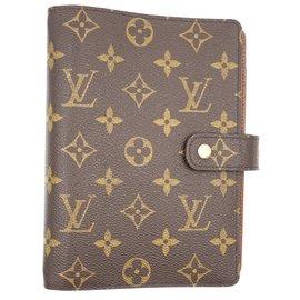 Louis Vuitton-Louis Vuitton Ring Agenda MM Monogram Wallet-Brown