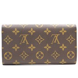 Louis Vuitton-Louis Vuitton Monogram International Trifold Long Wallet-Brown