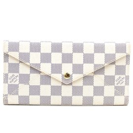 Louis Vuitton-Louis Vuitton Damier Azur Origami Long Wallet-White