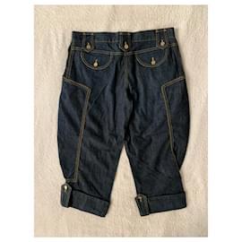 Dolce & Gabbana-Pantalon d'équitation en jean-Bleu