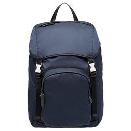 Prada-Prada backpack new-Navy blue