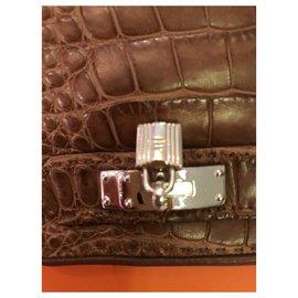 Hermès-Hermès Gloves-Khaki,Light brown
