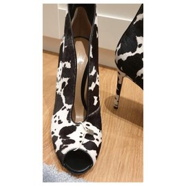 Gianvito Rossi-Beautiful Vamps ankle boots with animal print, calf foal, Pointure 40-Beige