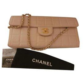Chanel-East West Chocolate Bag-Cream