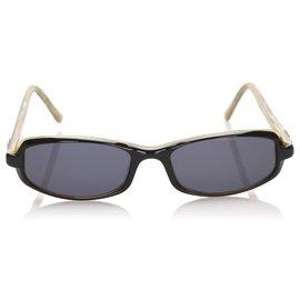 Fendi-Fendi Black Round Tinted Sunglasses-Brown,Black