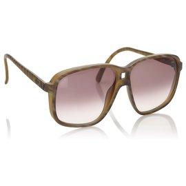 Dior-Dior Brown Square Tinted Sunglasses-Brown