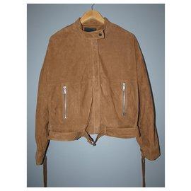 Ikks-Jackets-Brown,Light brown,Caramel