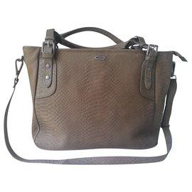 Ikks-Handbags-Khaki