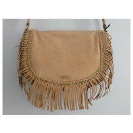Ikks-Handbags-Brown,Beige,Other,Light brown