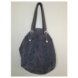 Ikks-Handbags-Blue,Navy blue