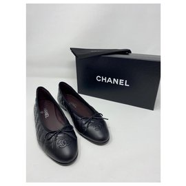 Chanel-chanel ballerine quiltet classic flap new-Black