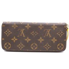 Louis Vuitton-Louis Vuitton Monogram Clemence Zippy Long Wallet-Brown