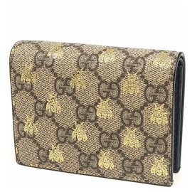 Gucci-Gucci compact Wallet Bee Folded wallet-Other