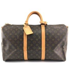 Louis Vuitton-Louis Vuitton Keepall 50 Bandouliere Monogram Canvas-Brown