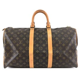 Louis Vuitton-Louis Vuitton Keepall 45 Monogram canvas-Brown