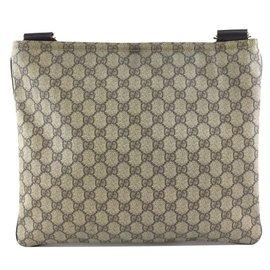 Gucci-Gucci Messenger GG Guccissima Canvas and Leather-Beige