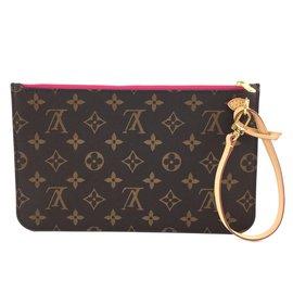 Louis Vuitton-Louis Vuitton Neverfull Pochette XL Monogram Canvas-Brown