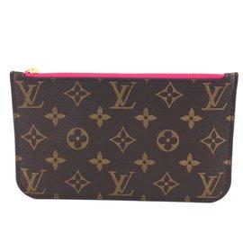 Louis Vuitton-Louis Vuitton Neverfull Pochette Monogram Canvas-Brown