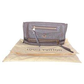 Louis Vuitton-Louis Vuitton Pochette Sparkling Leather Empreinte Terre (Brown)-Brown