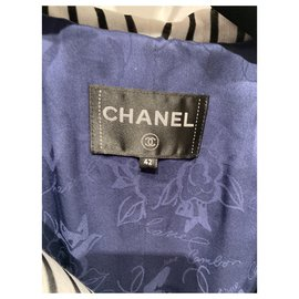 Chanel-Coats, Outerwear-White,Blue