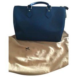 Louis Vuitton-Speedy Blue Epi-Navy blue