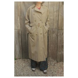 Burberry-Burberry women's vintage t trench coat 38 with removable wool lining-Beige