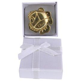 Dior-Golden flower dior ring-Gold hardware