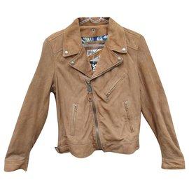 Schott-Schott women's biker jacket summer version t L-Beige