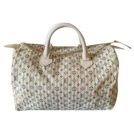 Louis Vuitton-Speedy Lin white-White