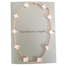 Van Cleef & Arpels-Van Cleef & Arpels Vintage Alhambra Necklace-Golden