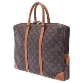 Louis Vuitton-Louis Vuitton Porte Documents Voyage-Brown