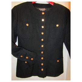 Chanel-tailleur jupe-Noir