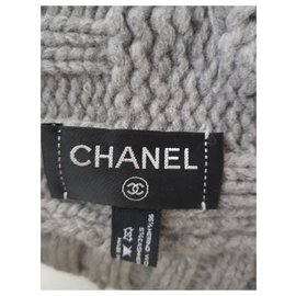 Chanel-Scarves-Grey