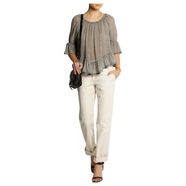 Isabel Marant-Randall Pants-Cream