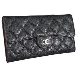 Chanel-Classic flap wallet-Black