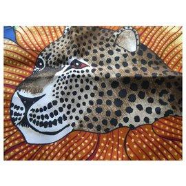 "Hermès-square hermès gavroche 45cms ""baobab cat"" with box-Other"