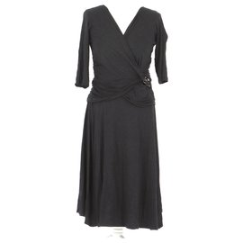 Max Mara-robe-Grey