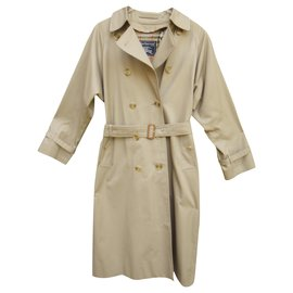 Burberry-Burberry women's vintage t trench coat 40 with removable wool lining-Beige