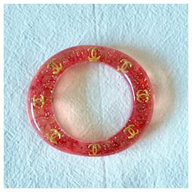 Chanel-Bracelets-Red,Golden