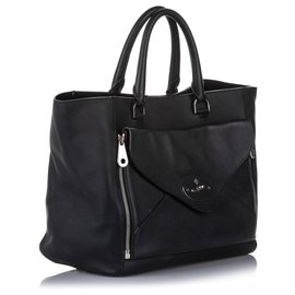 Mulberry-Mulberry Black Willow Leather Tote Bag-Black