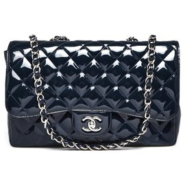 Chanel-Flap-Dark blue
